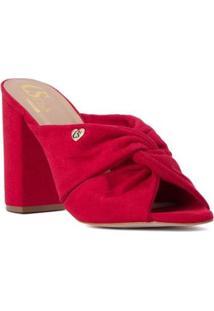 Tamanco Boot Borgonha Cs Club Feminino - Feminino-Vermelho