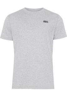 Camiseta Masculina Small Logo - Cinza
