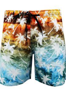 Shorts Elástico Alkary Havaiana Multicolorida,