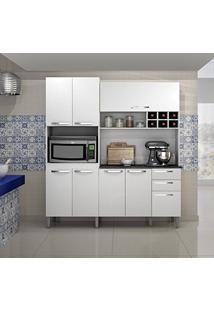 Armário De Cozinha 8 Portas Milão Sallêto Móveis Branco