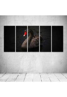 Quadro Decorativo - Black Swan - Composto De 5 Quadros - Multicolorido - Dafiti