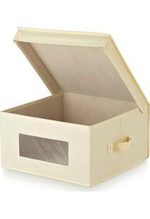 Caixa Organizadora Bege 36X36X19Cm - 30450