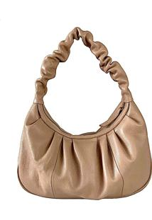 Bolsa Slouchy Couro Bege