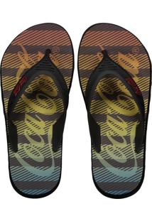 Chinelo Coca Cola Deck Sunset Bars Preto