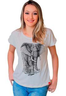 Camiseta Wevans Elefante Tattoo Branco