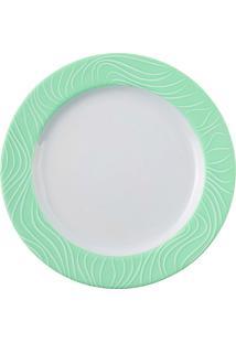 Prato Sobremesa Porcelana Schmidt - Dec. Green Oak