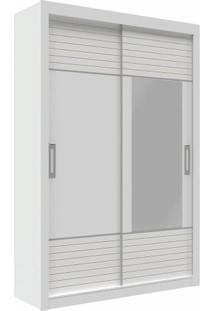 Guarda-Roupa Milan Com Espelho - 2 Portas - Branco