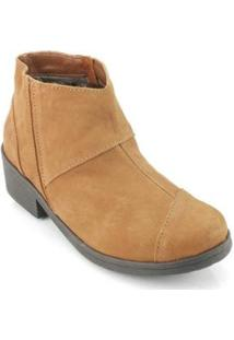Bota New Face Fashion Salto Feminino - Feminino-Marrom Claro