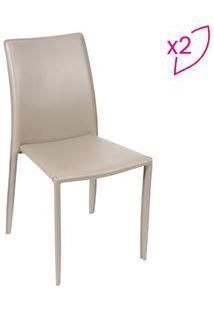 Or Design Jogo De Cadeiras De Jantar Glam Fendi 2Pã§S