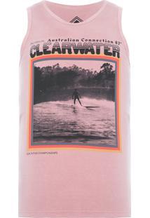 Regata Masculina Tinturada Silk Clear Water - Rosa