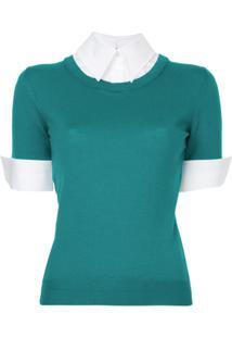 Mary Katrantzou Blusa Com Contraste - Verde