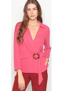 Blusa Com Fivela- Pink- Seduã§Ã£O Dressseduã§Ã£O Dress