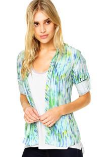 Camisa Malwee Abstrata Verde/Azul