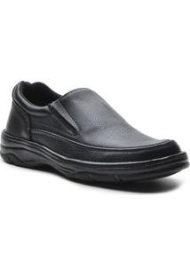 Sapato Masculino Conforto Elastico Preto - Masculino