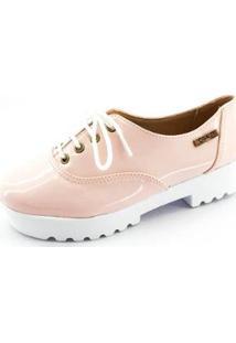 Oxford Quality Shoes Tratorado Verniz Feminino - Feminino-Rosa