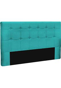 Cabeceira Slim King 195Cm Decor Magazine Azul Tiffany
