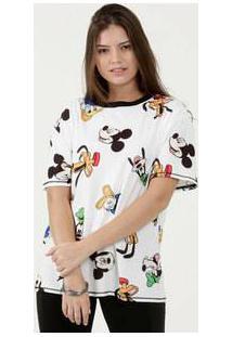 Blusa Feminina Estampada Manga Curta Disney