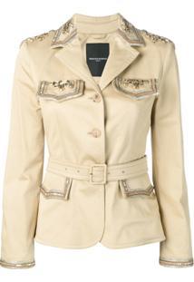 Ermanno Scervino Embellished Belted Jacket - Amarelo