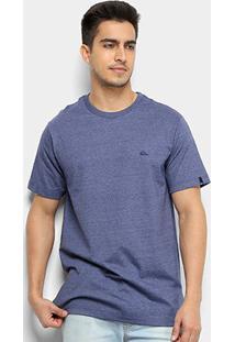 Camiseta Quiksilver Chest Embroidery Color Masculina - Masculino-Azul+Branco