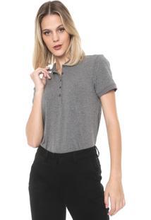 Camisa Polo Dudalina Lisa Cinza