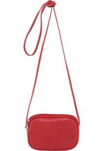 Mini Bolsa Luxo Smartbag Transversal - Feminino-Vermelho