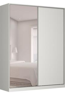 Guarda-Roupa Solteiro Com Espelho Tunas Ix 2 Pt 3 Gv Branco