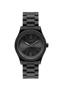Relógio Euro Feminino Aro Spikes Preto Eu2035Yqy/4P Eu2035Yqy/4P