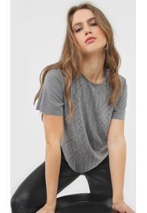 Camiseta Triton Aplicações Cinza