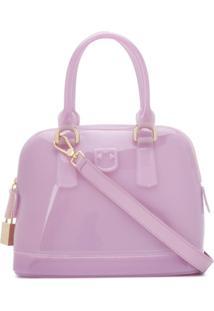 Furla Candy Fantastica Gloss Tote Bag - Roxo