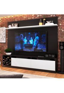 Estante Home Para Tv Até 80 Polegadas Bianca Preto E Branco