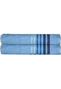 Toalha De Rosto Dynamo- Azul & Azul Marinho- 45X80Cmcamesa