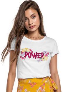 Blusa Branca Power Com Aplique