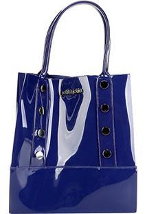 Bolsa Petite Jolie Shopper Bag Feminina - Feminino-Azul Navy