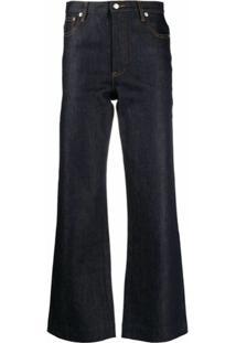 A.P.C. Calça Jeans Flare Cintura Alta - Azul
