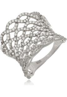 Anel Le Diamond Monarca Rã³Dio Branco - Branco - Feminino - Dafiti