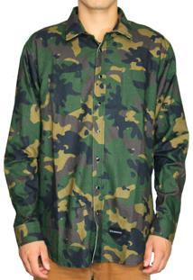 Camisa Hocks Camow Camuflada Verde