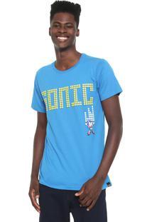Camiseta Tectoy Sonic The Hedgehog Front Azul