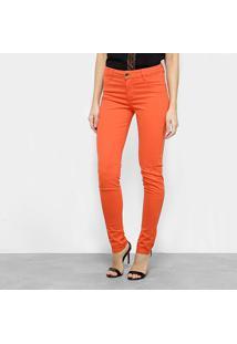 102f5f88e608e ... Calça Skinny Morena Rosa Cintura Média Feminina - Feminino-Coral