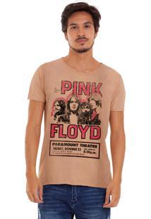 Camiseta Estonada Corte À Fio Estampada Joss Pink Floyd