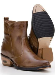 Bota Country Em Couro Capelli Boots Feminina - Feminino-Marrom