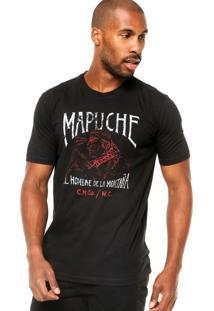 Camiseta Manga Curta West Coast Mapuche Preta