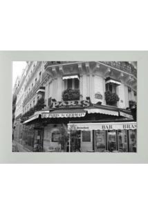 Quadro Paris Contemporâneo 23 X 28 Cm Branco