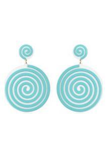 Brincos Le Diamond Aspiral Azul