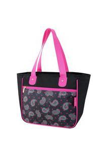 Bolsa Shopper Estampada Jacki Design Classic Preto