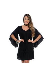Vestido Bata Lavínia B'Bonnie Preto