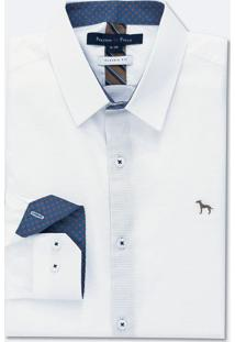 Camisa Manga Longa Slim Maquinetado