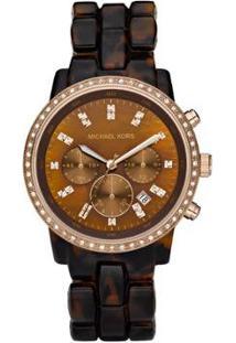 Relógio Michael Kors Casco De Tartaruga Feminino - Feminino-Rosa