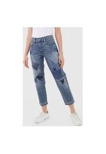 Calça Jeans Polo Ralph Lauren Boyfriend Avery Azul