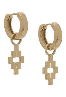 Marcelo Burlon County Of Milan Cross Earrings - Dourado