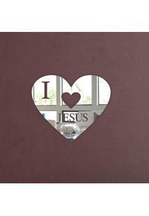 Espelho Decorativo Coração I Love Jesus